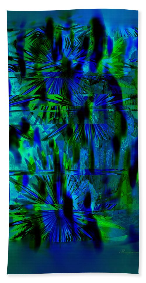 Abstract Beach Towel featuring the digital art Colors Of The Night by Georgiana Romanovna