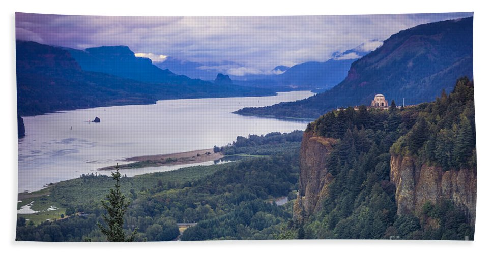 America Beach Towel featuring the photograph Columbia River Gorge by Brian Jannsen