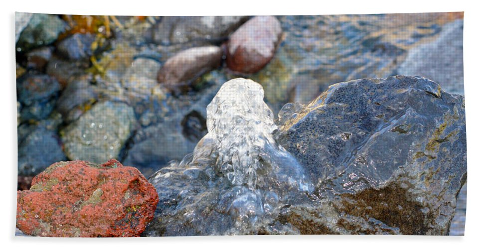 Water Beach Towel featuring the photograph Come Gurgling Out by Brent Dolliver