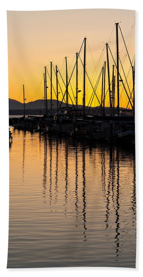 Sailboat Beach Towel featuring the photograph Coming In by Mike Reid