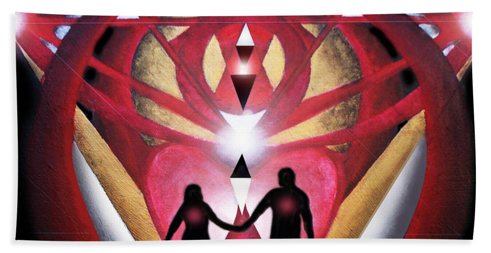 Marriage Beach Towel featuring the painting Commitment by Larry Rice