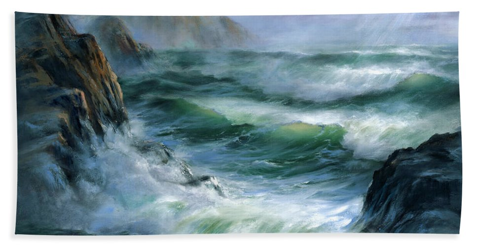 Transparent Wave Beach Towel featuring the painting Concerto by Sharon Abbott-Furze