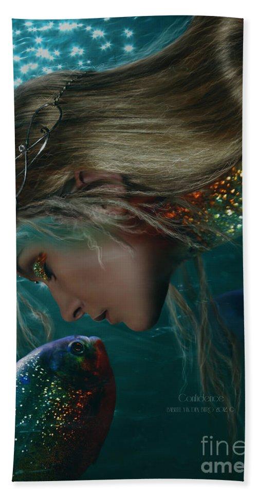 Fantasy Beach Towel featuring the digital art Confidence by Babette Van den Berg