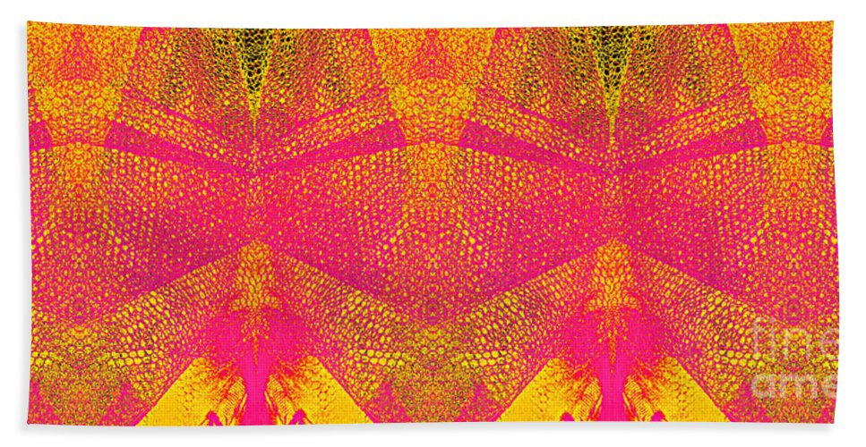 Yellow Beach Towel featuring the digital art Confounded Fish by Lizi Beard-Ward