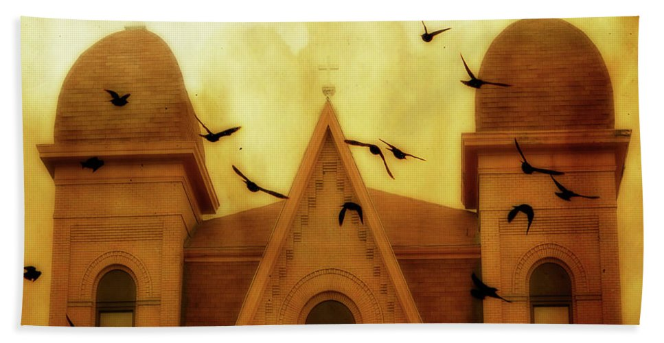 Church Beach Towel featuring the photograph Congregation by Gothicrow Images