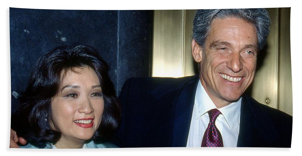 Talk Show Hosts Beach Towel featuring the photograph Connie Chung-maury Povich by Ed Weidman