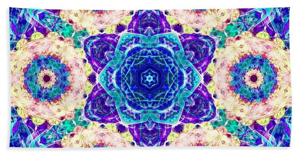 Sacredlife Mandalas Beach Towel featuring the digital art Conscious Explosion by Derek Gedney