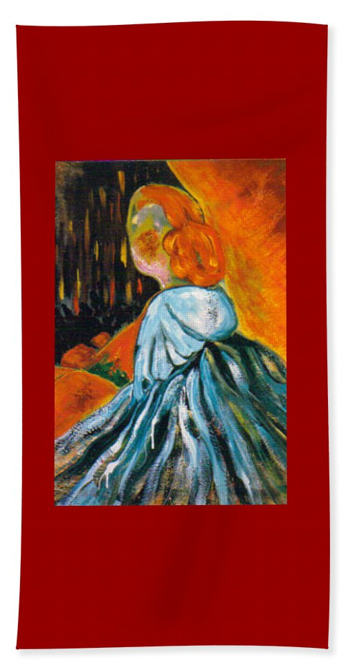 Contemplation Beach Towel featuring the painting Contemplation by Shakti Brien