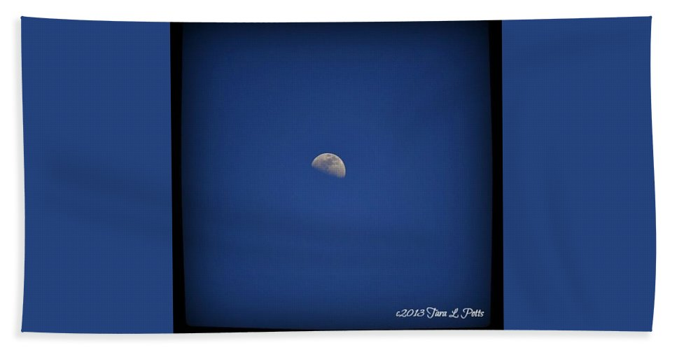 Moon Beach Towel featuring the photograph Conyers Moon by Tara Potts