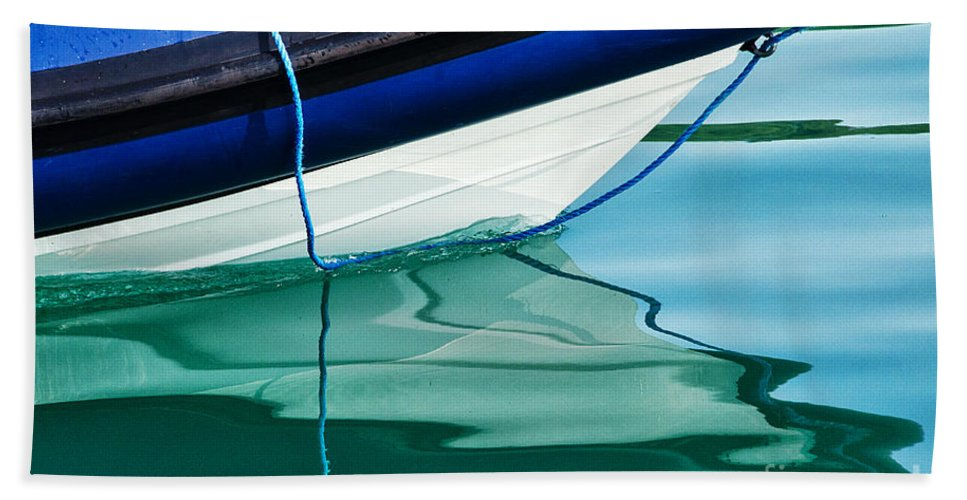 Boat Beach Towel featuring the photograph Cool Ocean Blues by Susie Peek