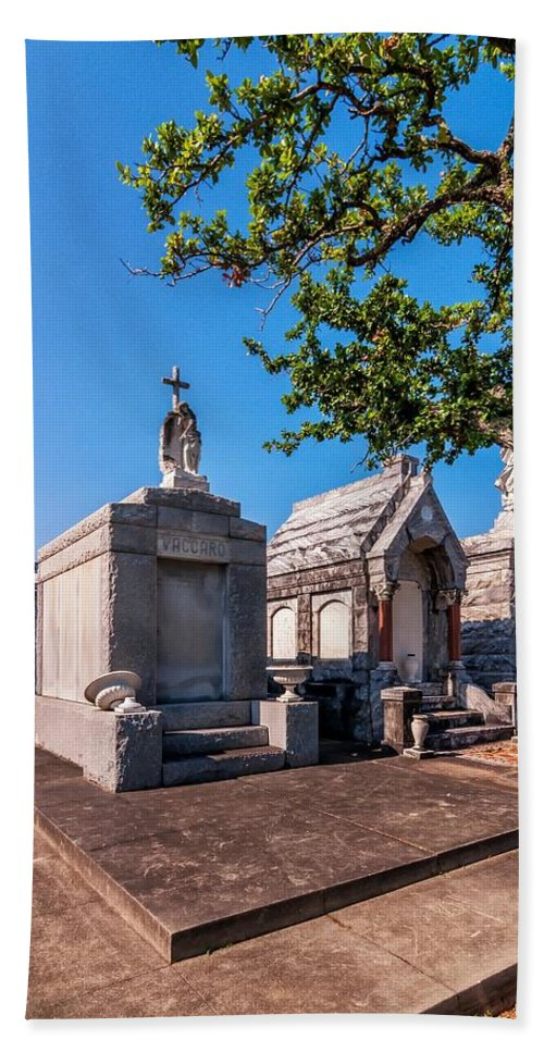 Metairie Cemetery Beach Towel featuring the photograph Corner Lot by Steve Harrington