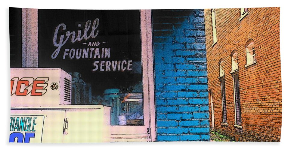 Fine Art Beach Towel featuring the photograph Corner Of Store by Rodney Lee Williams