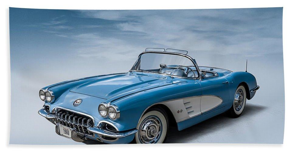 Corvette Beach Towel featuring the digital art Corvette Blues by Douglas Pittman