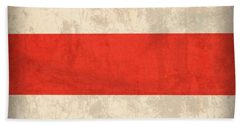 Costa Rica Flag Vintage Distressed Finish Beach Towel featuring the mixed media Costa Rica Flag Vintage Distressed Finish by Design Turnpike
