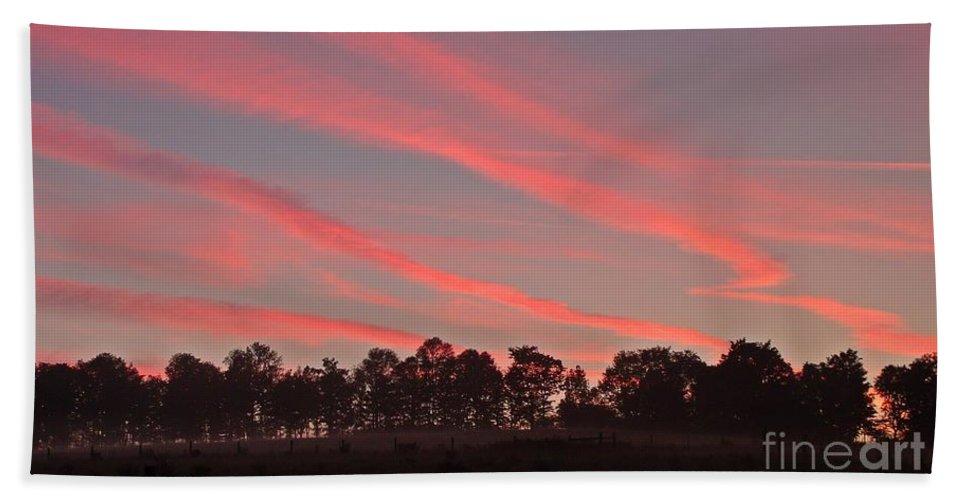 Sunrise Beach Towel featuring the photograph Cotton Candy Sunrise by Christian Mattison