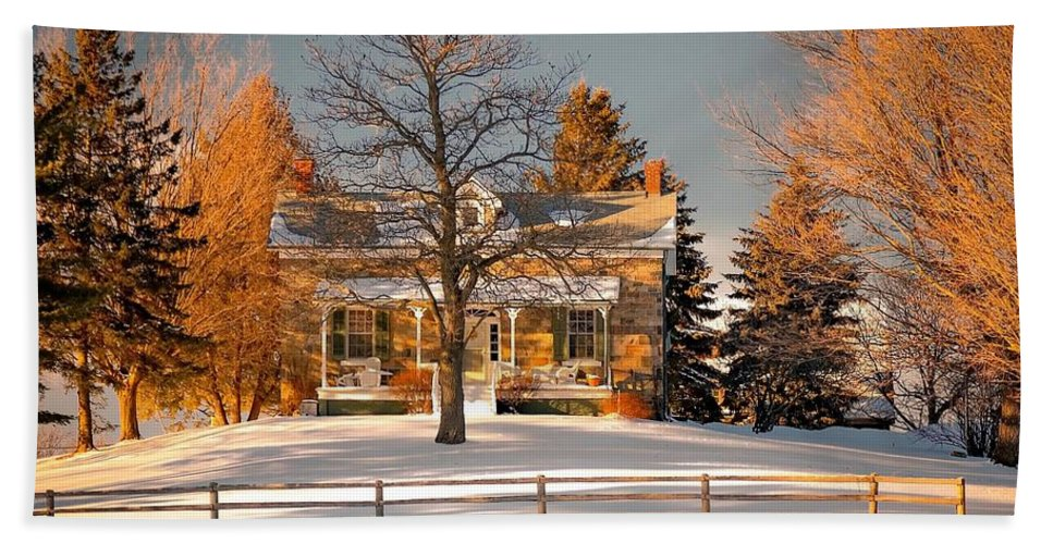 Country Living Beach Towel featuring the photograph Country Home by Steve Harrington