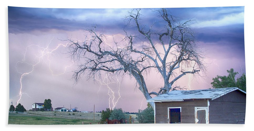 Country Beach Towel featuring the photograph Country Horses Riders On The Storm by James BO Insogna
