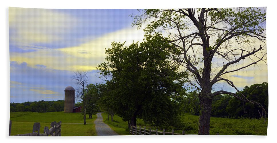 Farm Beach Towel featuring the photograph Country Road by Madeline Ellis
