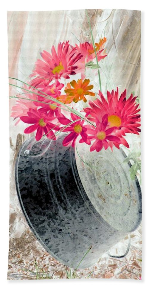 Flower Beach Towel featuring the photograph Country Summer - Photopower 1499 by Pamela Critchlow