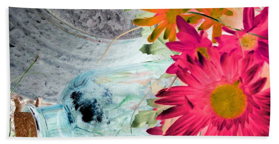Flower Beach Towel featuring the photograph Country Summer - Photopower 1510 by Pamela Critchlow