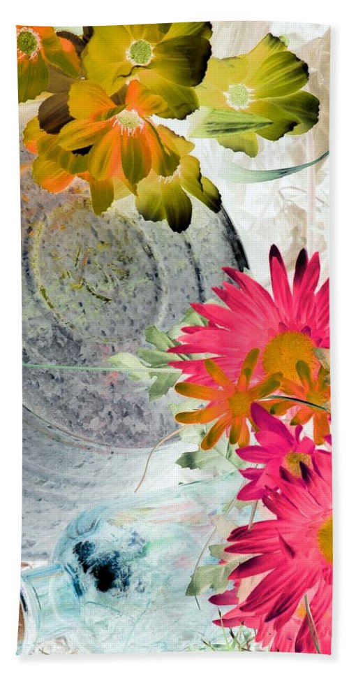 Flower Beach Towel featuring the photograph Country Summer - Photopower 1512 by Pamela Critchlow
