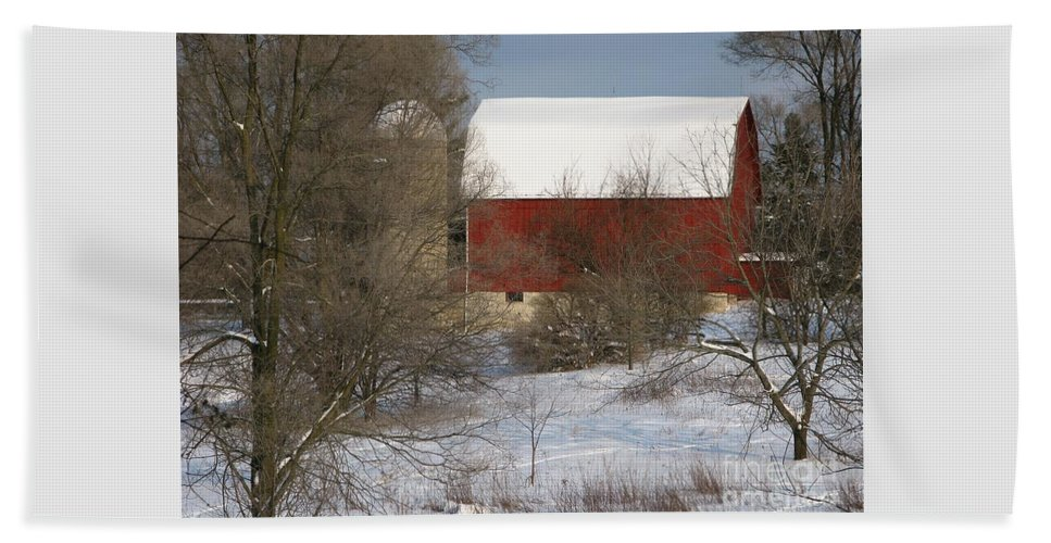 Winter Beach Sheet featuring the photograph Country Winter by Ann Horn