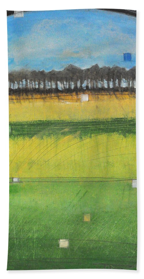 Landscape Beach Towel featuring the painting County S by Tim Nyberg