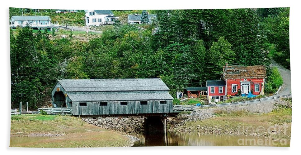 Covered Beach Towel featuring the photograph Covered Bridge by Kathleen Struckle