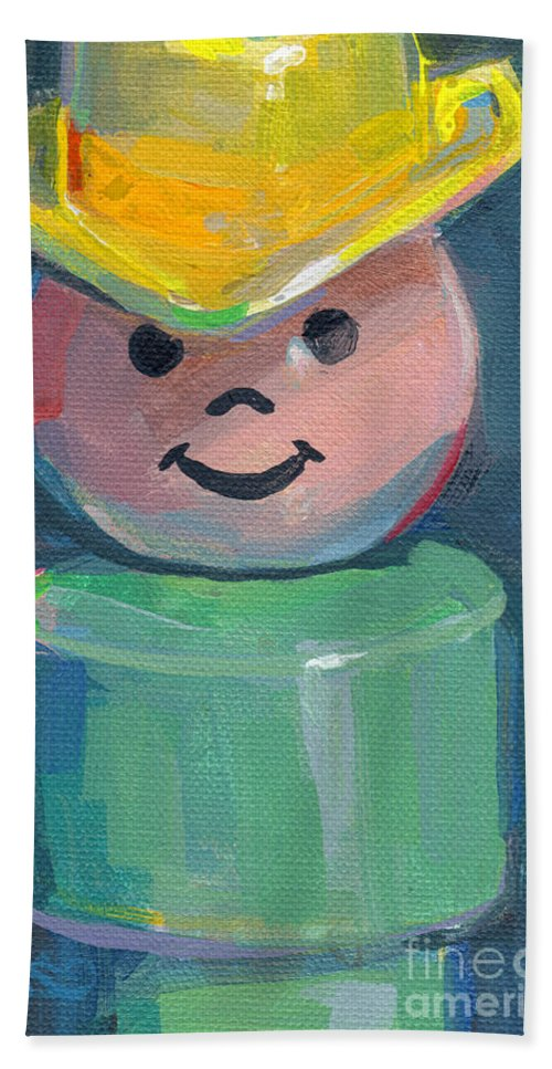Fisher Price Beach Towel featuring the painting Cowboy by Kimberly Santini