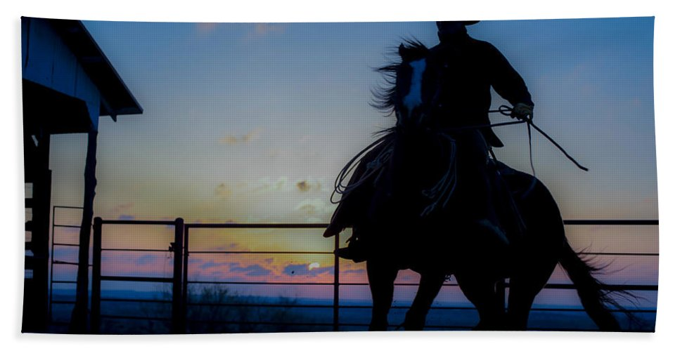 Horse Beach Towel featuring the photograph Cowboy Pirouette by Kelli Brown