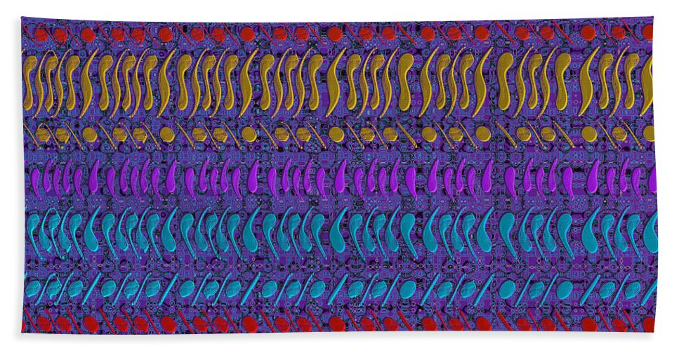 Fractal Beach Towel featuring the digital art Cracking The Code by Richard Kelly