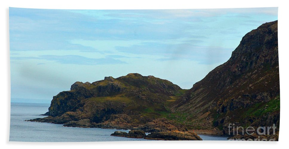 Scotland Beach Towel featuring the photograph Craggy Coast 1 by Nancy L Marshall