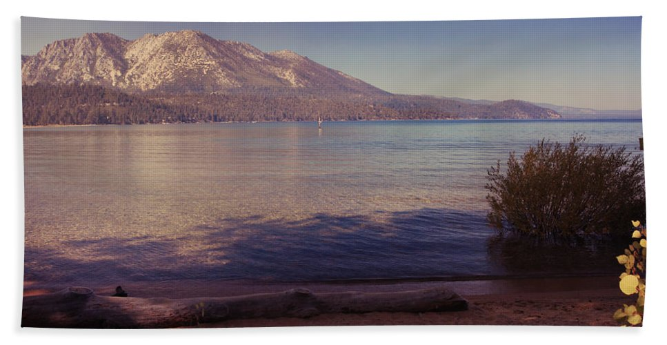 Lake Tahoe Beach Towel featuring the photograph Crisp And Clear by Laurie Search