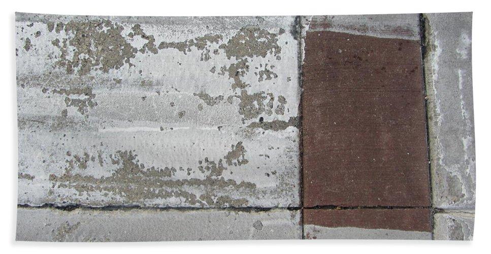 Concrete Beach Towel featuring the photograph Crosswalk Patterns 2 by Anita Burgermeister