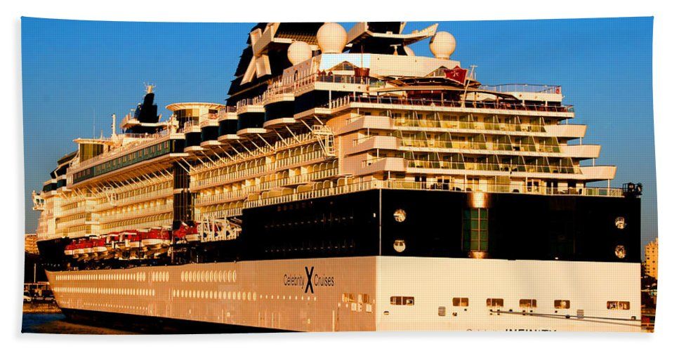 Cruise Ship Beach Towel featuring the photograph Cruise by Tap On Photo