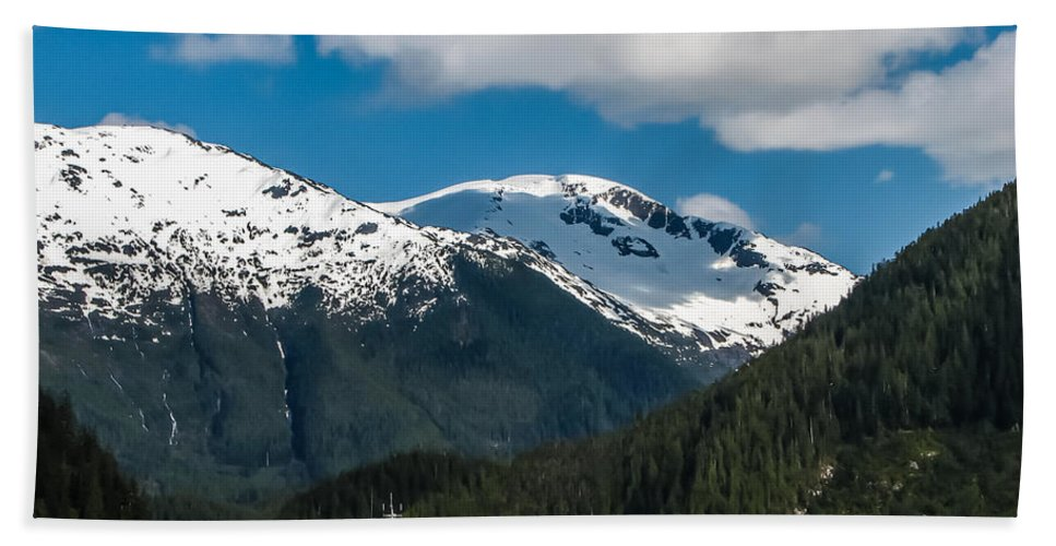 Alaska Beach Towel featuring the photograph Cruising Alaska by Robert Bales