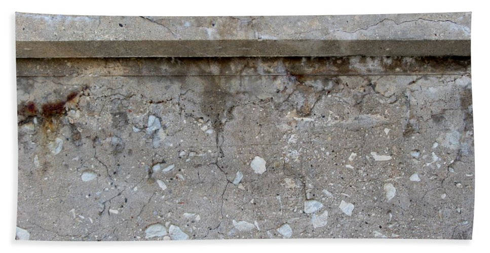 Concrete Beach Towel featuring the photograph Crumbling Wall 1 by Anita Burgermeister