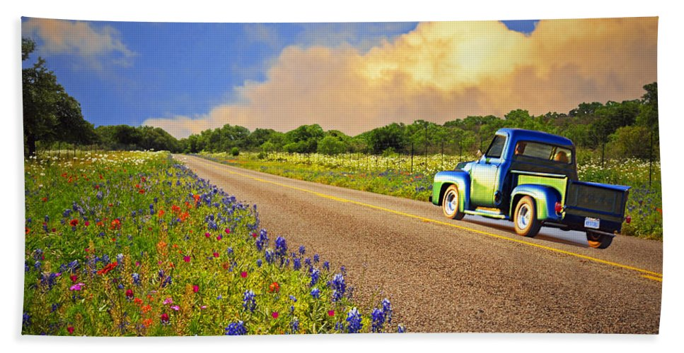 Spring Beach Towel featuring the photograph Crusin' The Hill Country In Spring by Lynn Bauer
