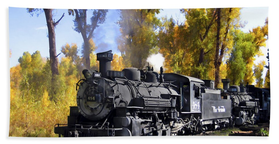 Train Beach Sheet featuring the photograph Cumbres And Toltec Railroad by Kurt Van Wagner