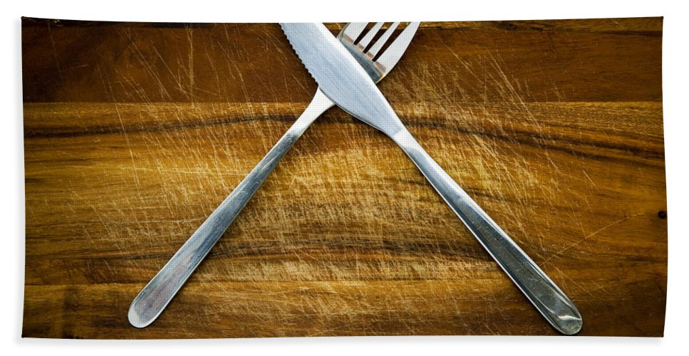 Blade Beach Towel featuring the photograph Cutlery by Tim Hester