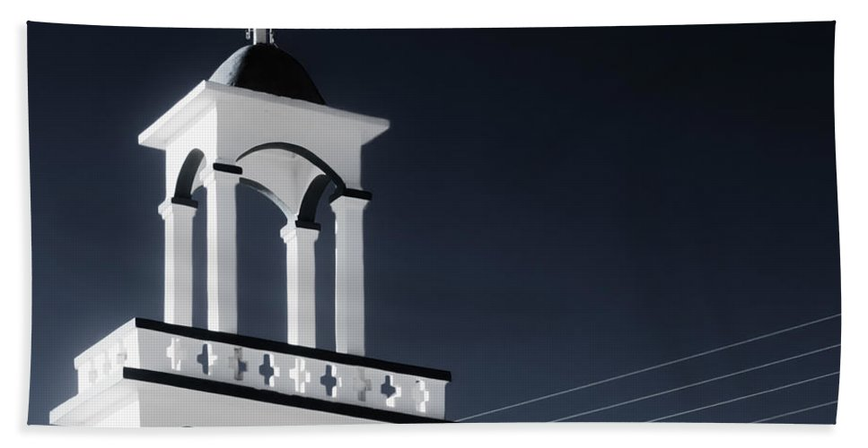 Cyclades Beach Towel featuring the photograph Cyclades Greece - Andros Island Church by Alexander Voss