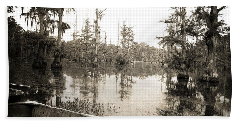 Swamp Beach Towel featuring the photograph Cypress Swamp by Scott Pellegrin