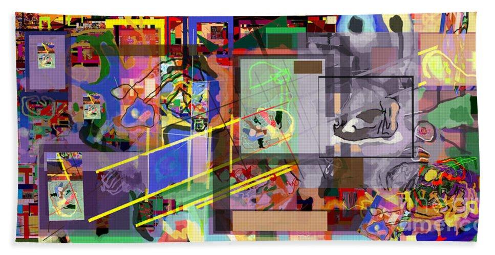 Daas Beach Towel featuring the digital art Daas 18 P by David Baruch Wolk