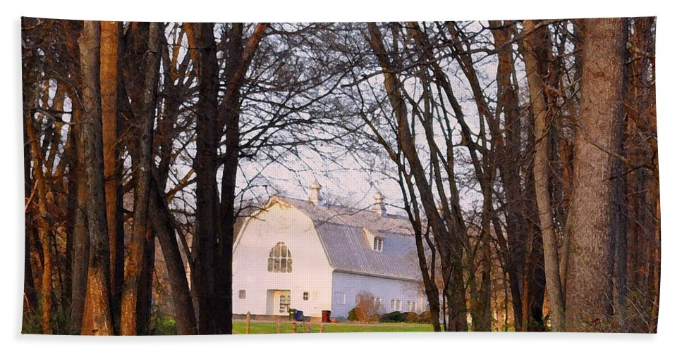 Dairy Barn Beach Towel featuring the photograph Dairy Barn by Lydia Holly