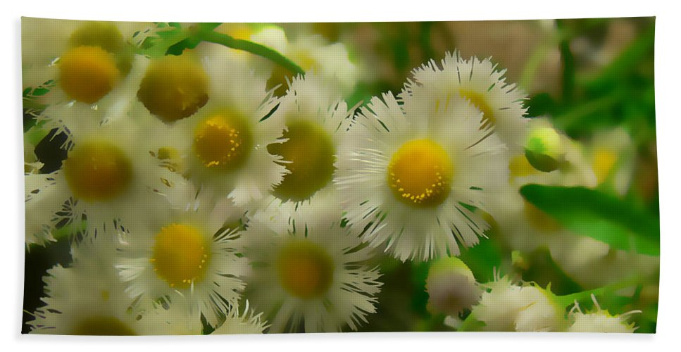 Flowers Beach Towel featuring the digital art Daisy by Ericamaxine Price