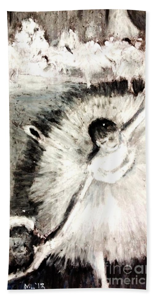 Dancers Beach Towel featuring the pastel Dancer With A Bouquest Of Flowers By Edgard Degas by Maria Leah Comillas