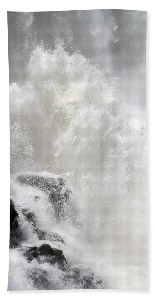 Waterfall Beach Towel featuring the photograph Dancing Waters by Ginny Barklow