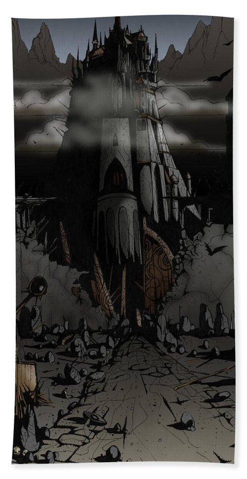 Usherwood Beach Sheet featuring the digital art Dark Castle by James Kramer