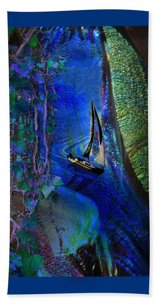 Dark River Beach Towel featuring the digital art Dark River by Lisa Yount
