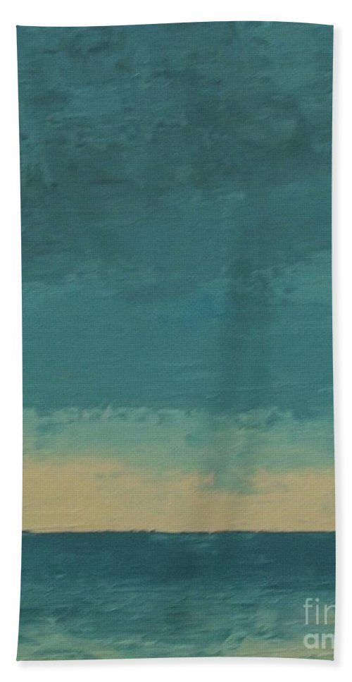 Landscapes Beach Towel featuring the painting Dark Waters by Gail Kent